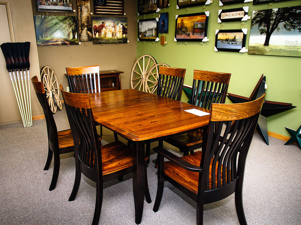 amish wood dining table