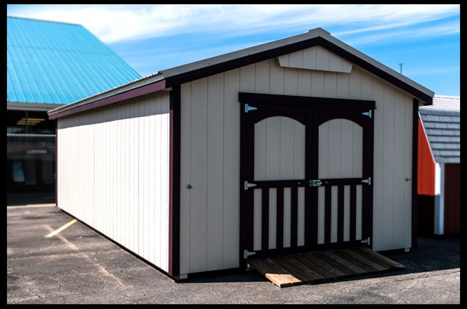 large storage sheds for serious storage available on the lot