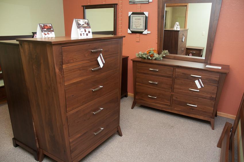Amish built wood furniture