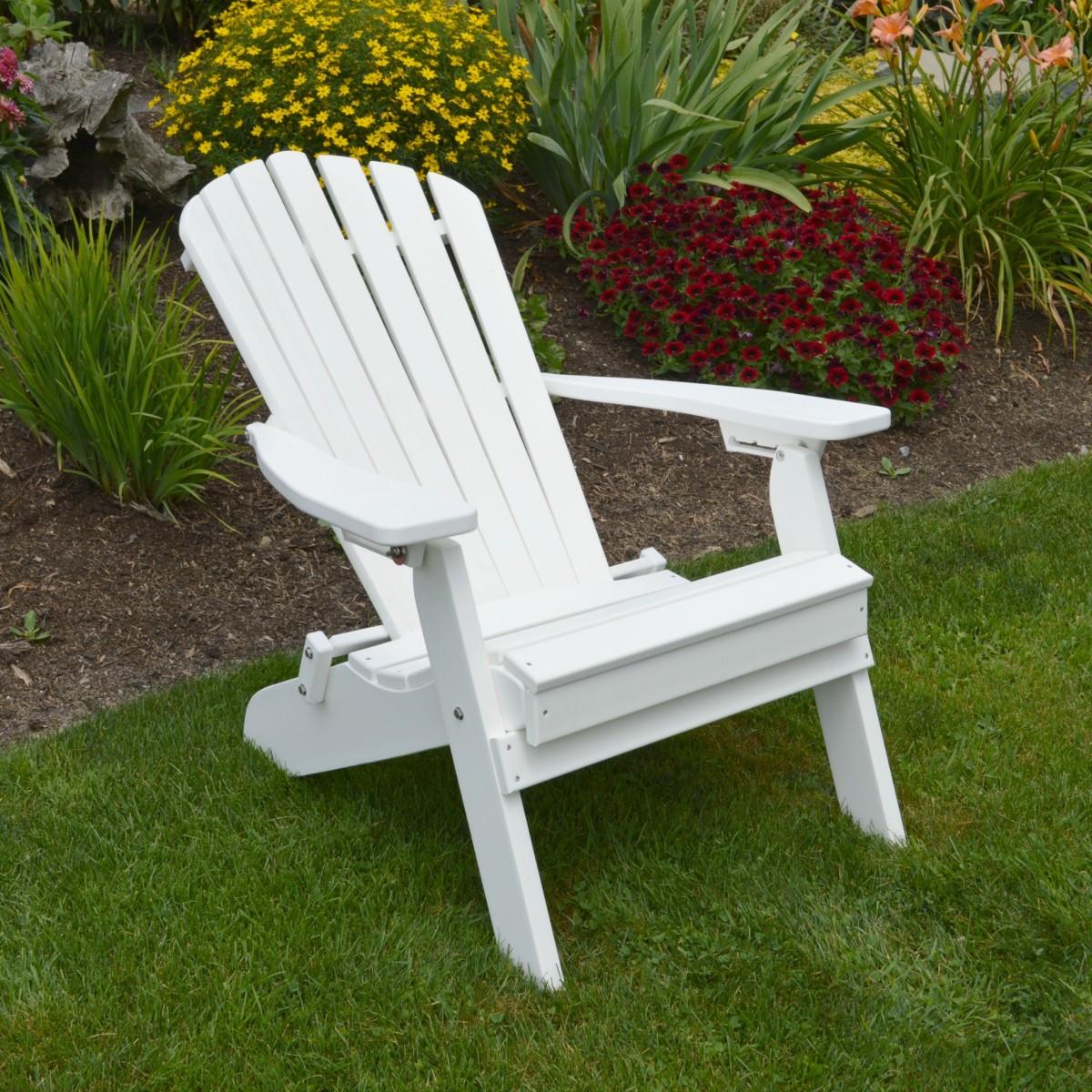 Folding Reclining Adirondack Chair 187 Amish Woodwork