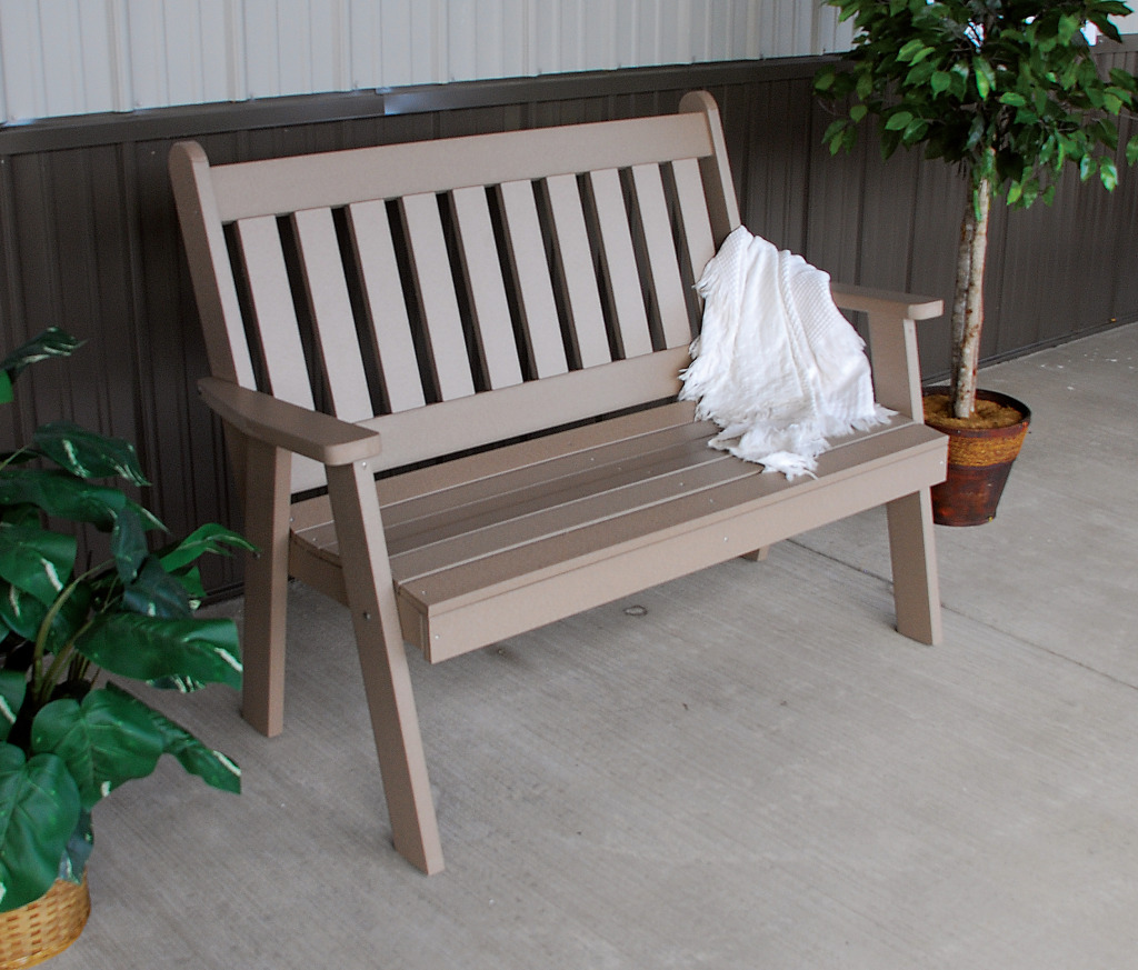 5′ Traditional English Garden Bench » Amish Woodwork