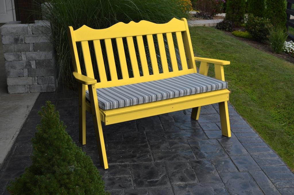 yellow garden bench 4 royal english bench 187 amish woodwork