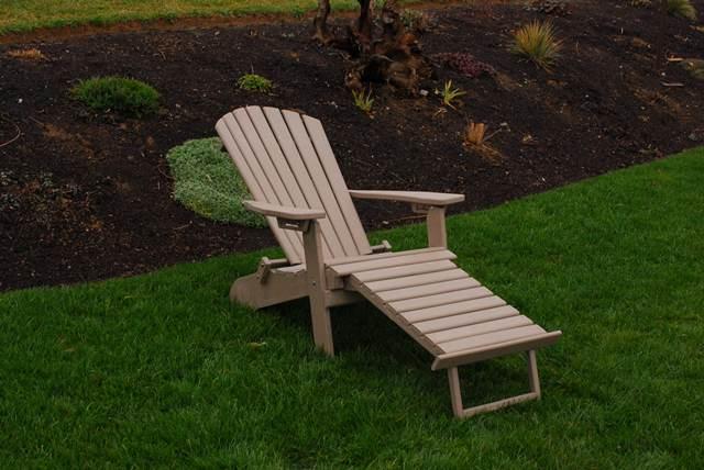 Folding Reclining Adirondack Chair W Pull Out Ottoman